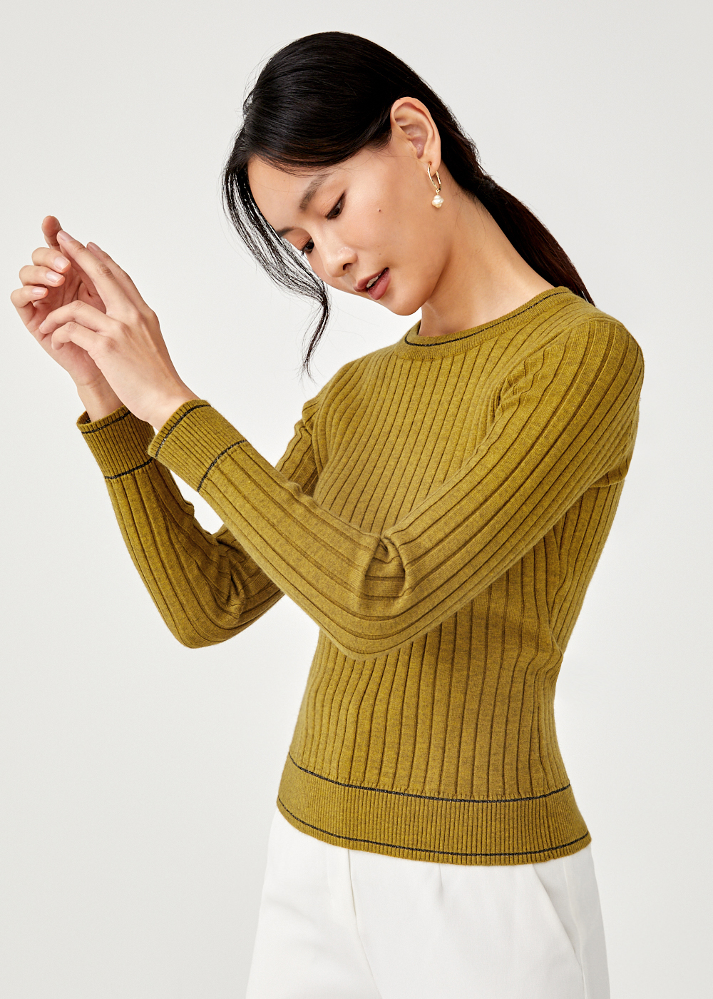 Svea Ribbed Knit Sweater