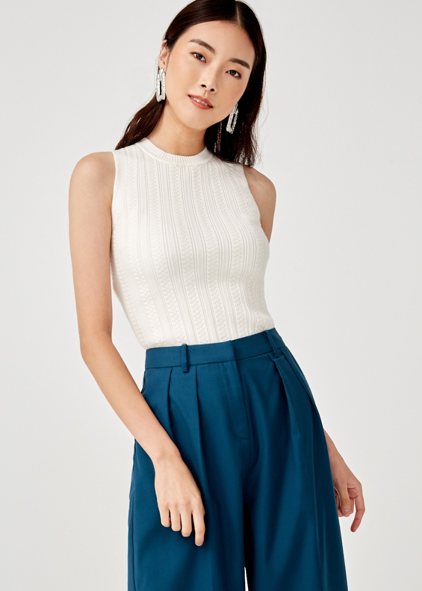 Analise Scallop Hem Knit Top