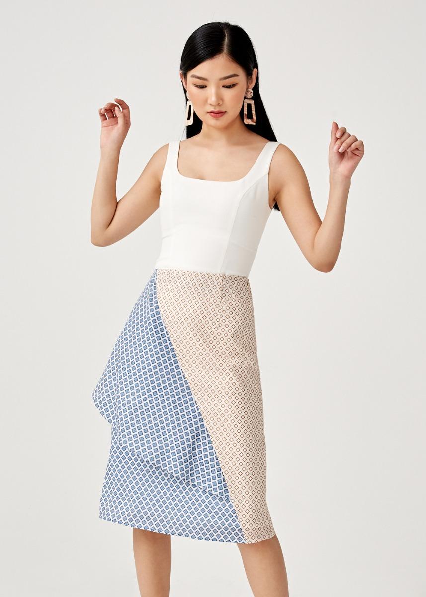 Poppy Foldover Midi Skirt in Moroccan Reverie