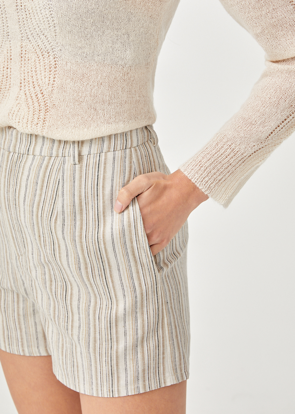 Nash Linen High Waist Shorts