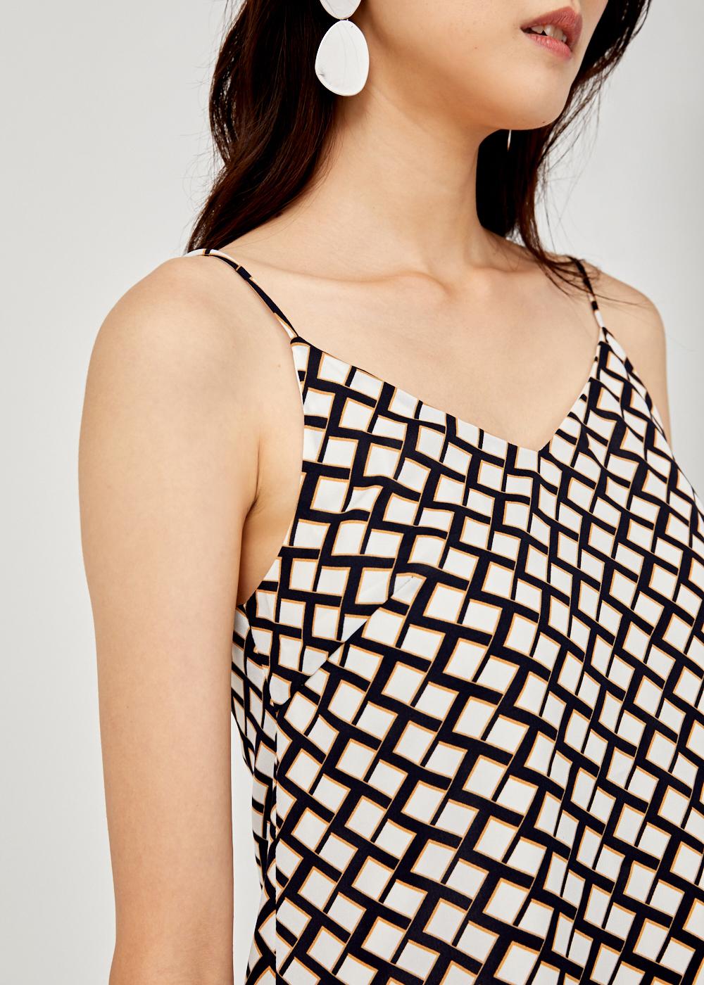 Aurella Printed Camisole Top