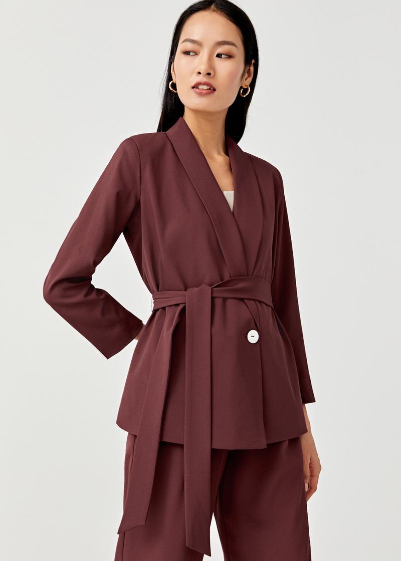 Ambrosia Sash Tie Blazer