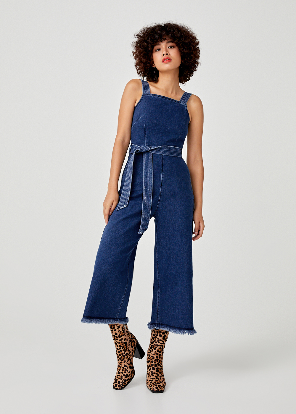 Gwenyth Denim Wide Leg Jumpsuit