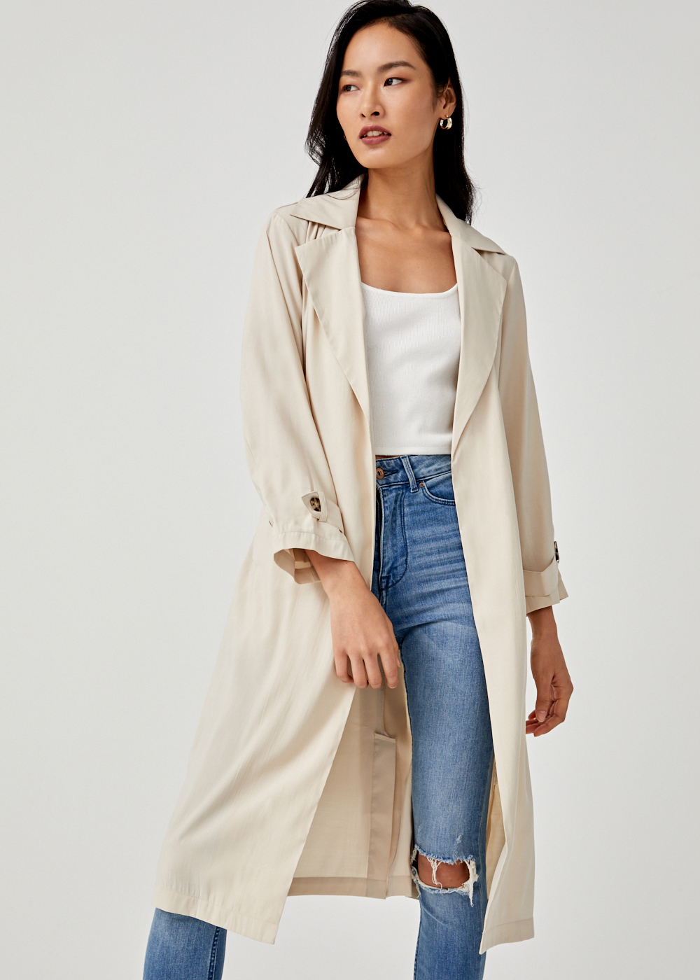 Juliana Midi Trench Coat
