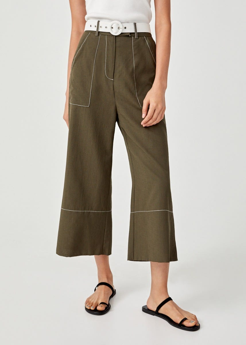 Sara Belted Wide Leg Culottes