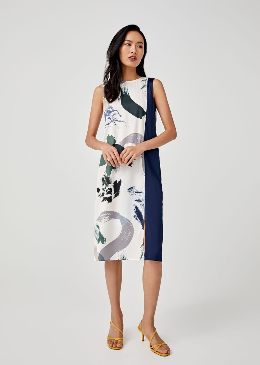 Chelsey Midi Dress in Artful Bloom