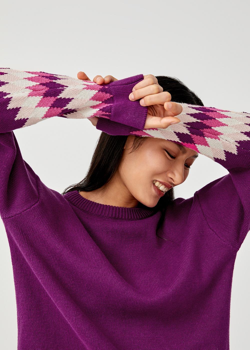 Gwen Printed Knit Sweater