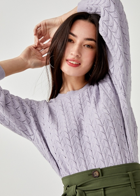 Lynette Textured Knit Sweater