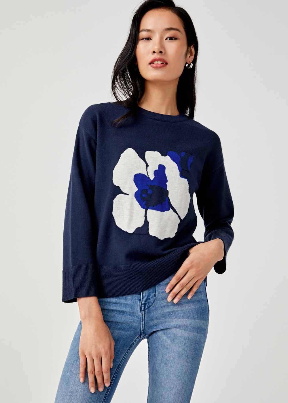 Serenity Printed Knit Sweater