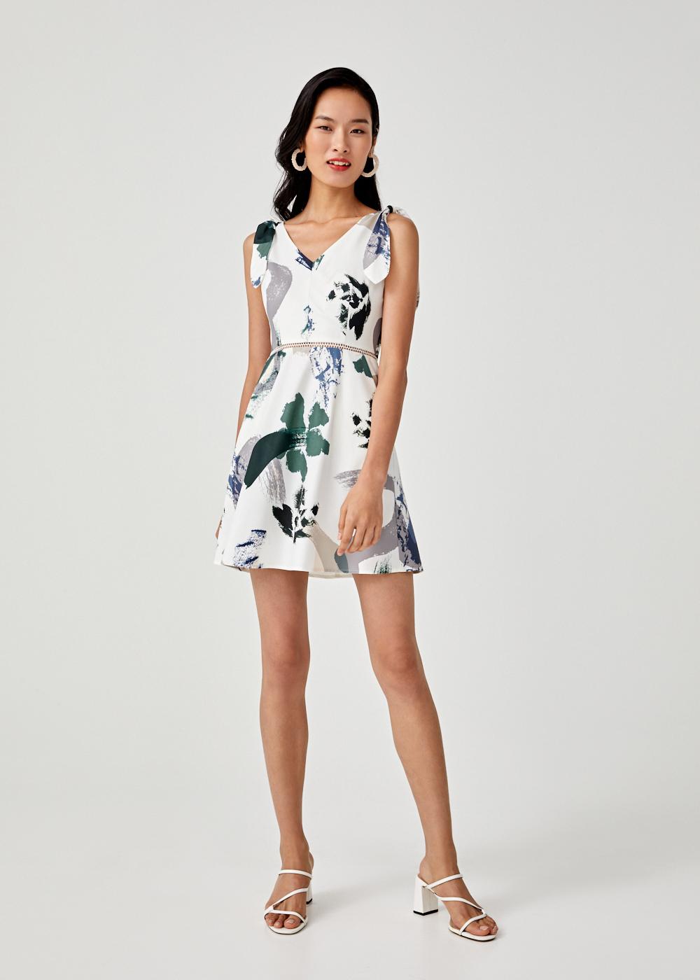Buy Anne Printed A-line Dress in Artful