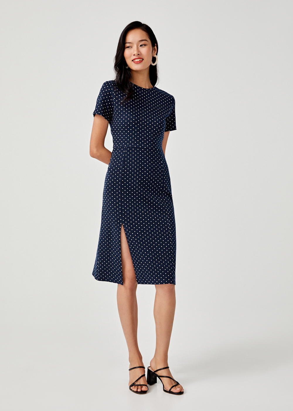 Annika Polka Dot Bodycon Dress