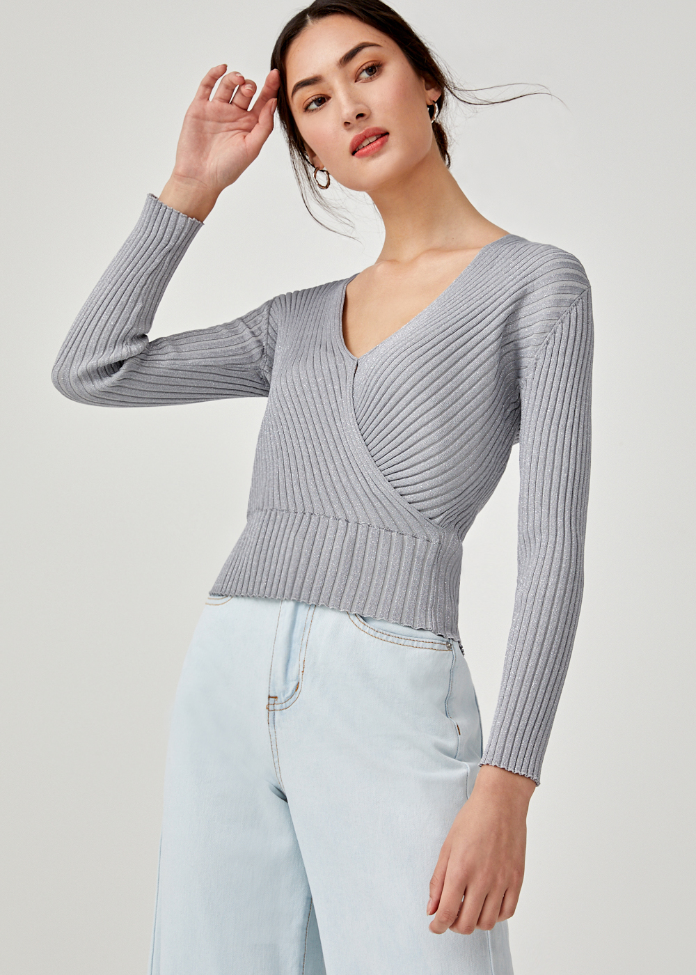 Iona V-neck Knit Sweater