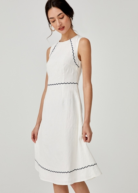 Clarissa Embroidered Midi Dress