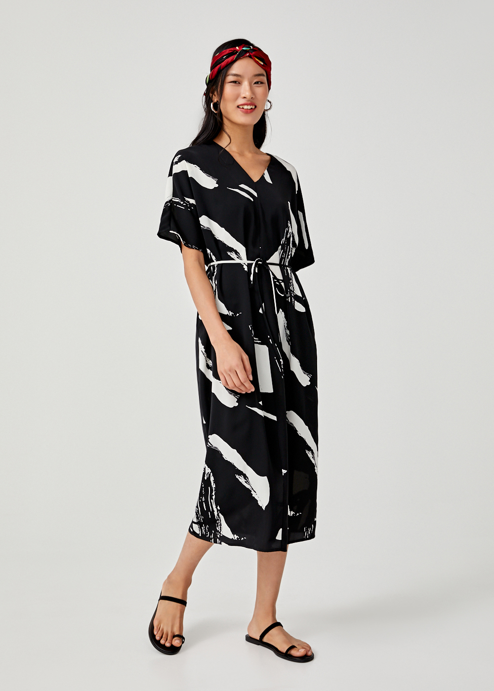 Ariadne Printed Midi Dress
