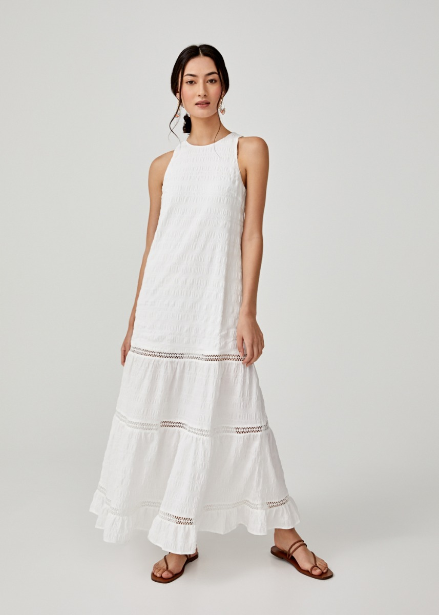 Cassia Textured Maxi Dress
