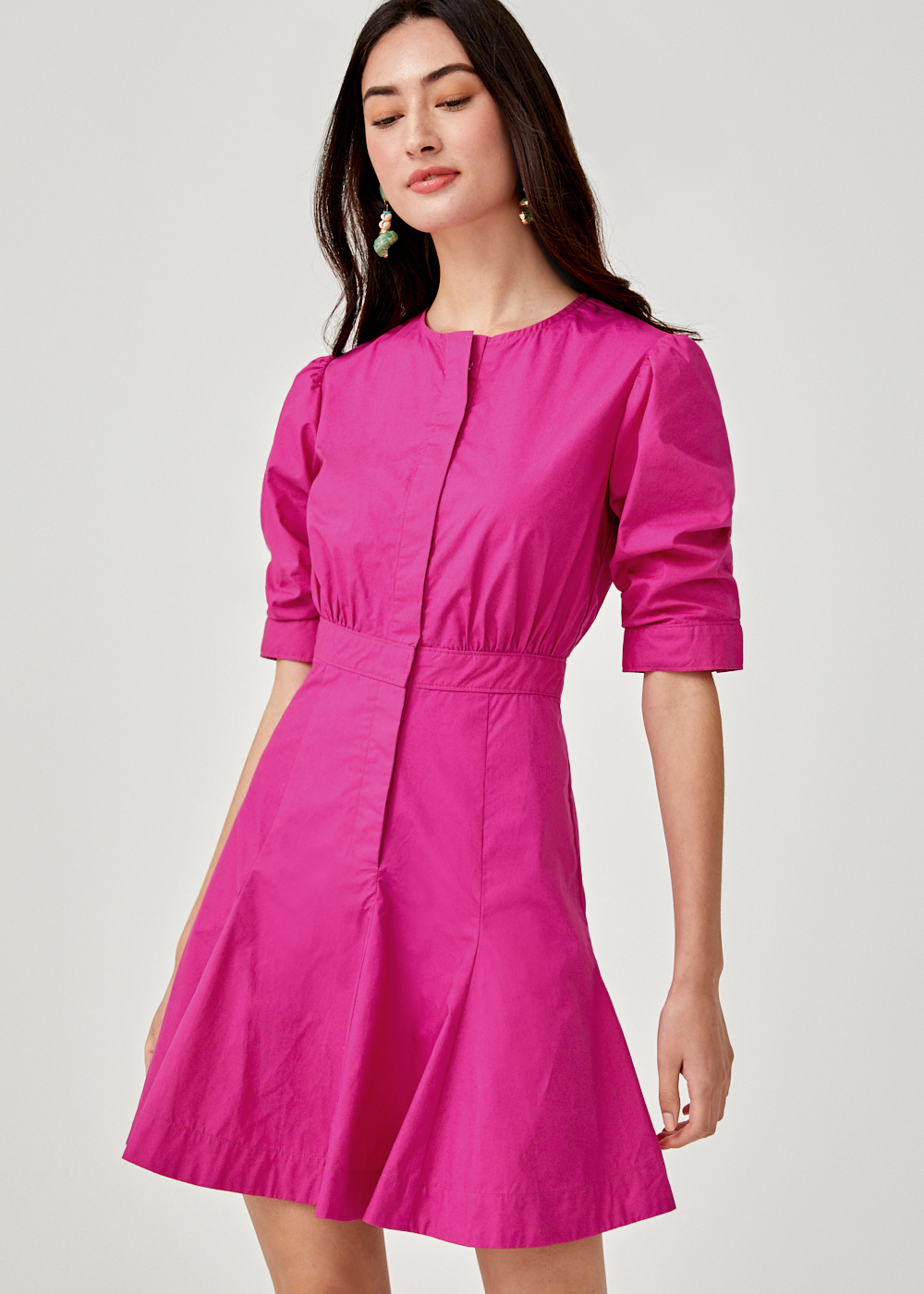 Cyane A-line Shirt Dress