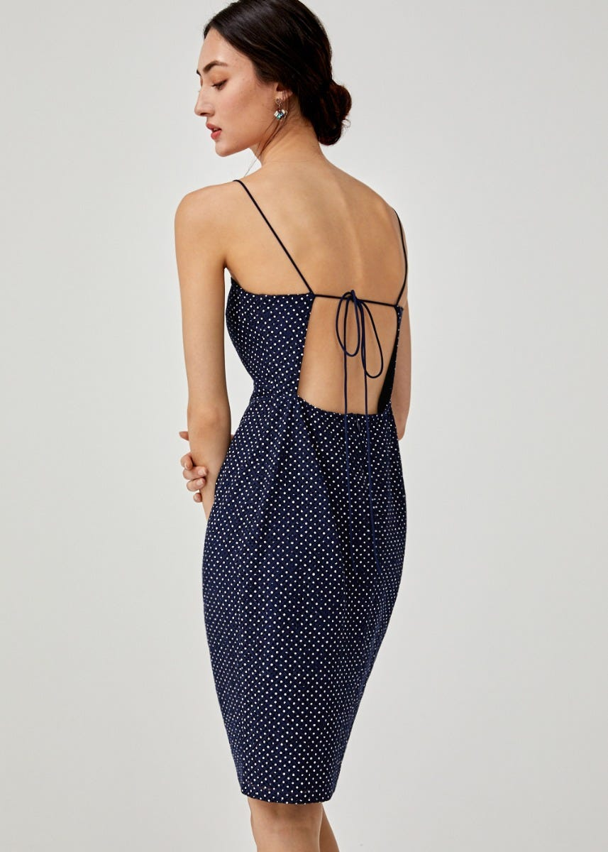 Evadne Open Back Lace Dress