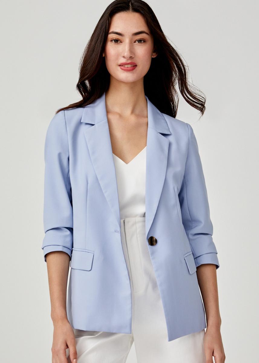 Alena Button Front Blazer