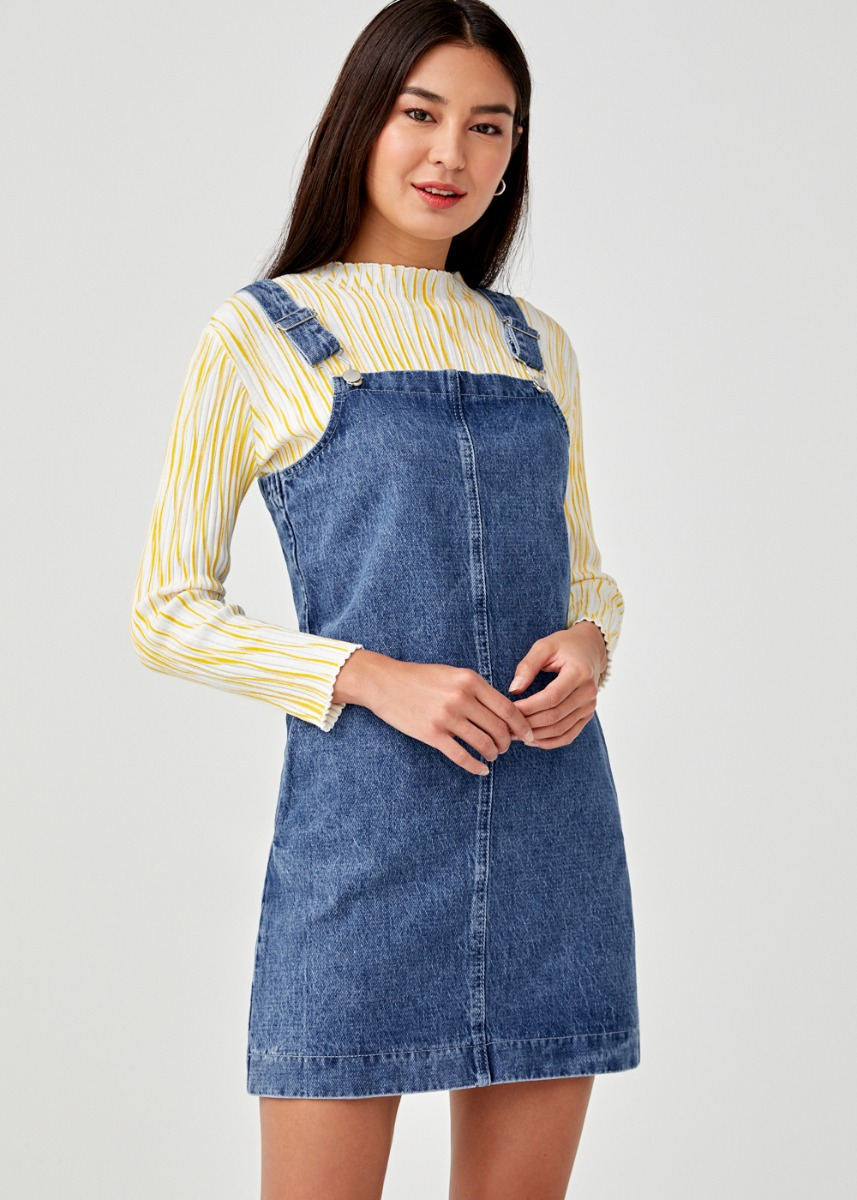 Nikola Denim Dungaree Dress