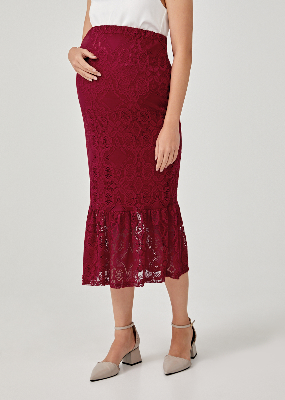 Aniela Lace Trumpet Skirt