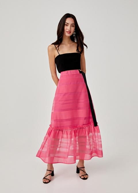 Peggy Jacquard Maxi Skirt