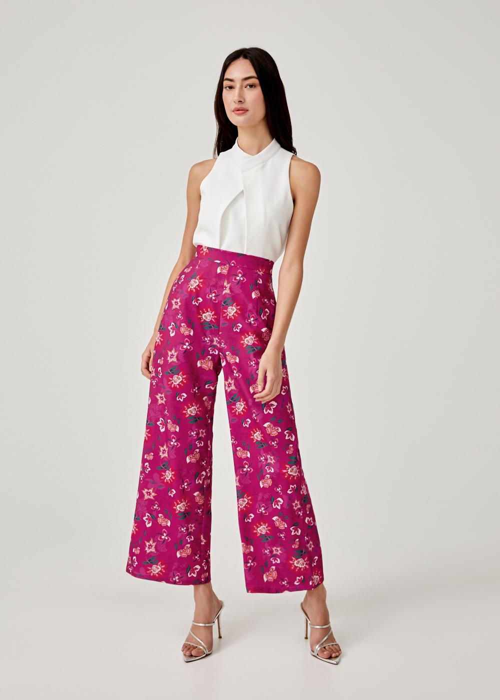 Luvenia Straight Leg Pants in Jade Blossom