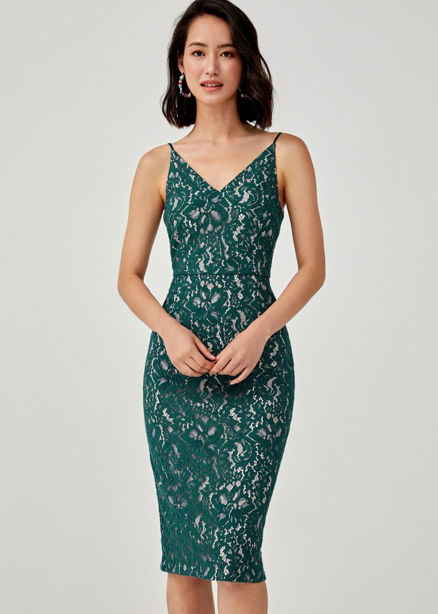Almeria Lace Camisole Dress
