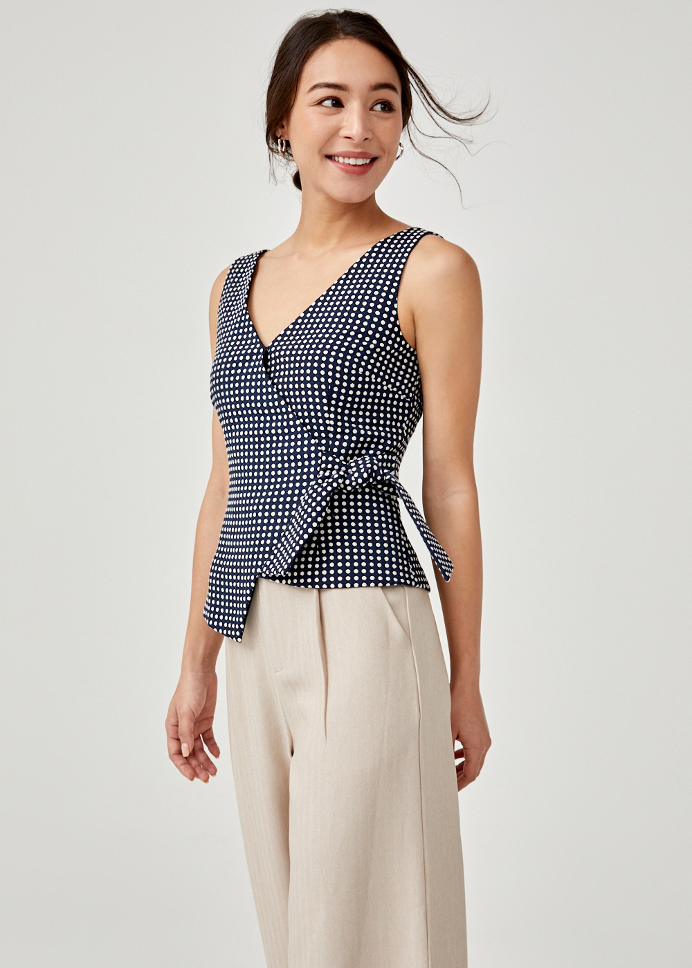 Astoria Jacquard Wrap Top