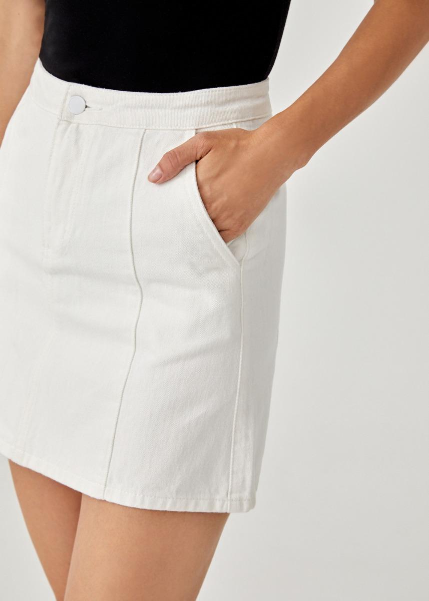Embry Denim A-line Skirt