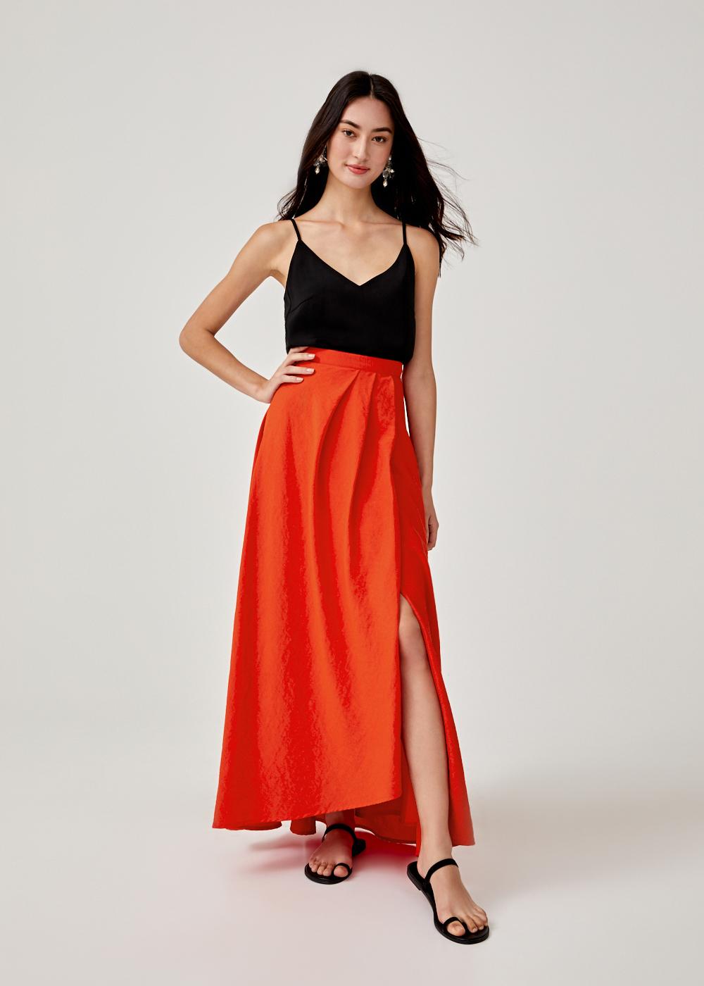 Paisley Flare Hem Maxi Skirt