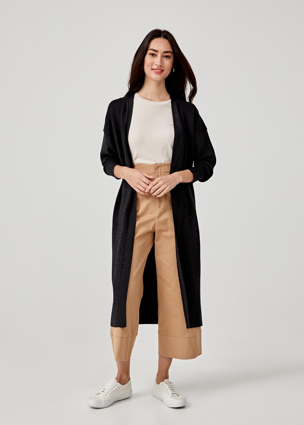 Omia Shimmer Knit Maxi Cardigan