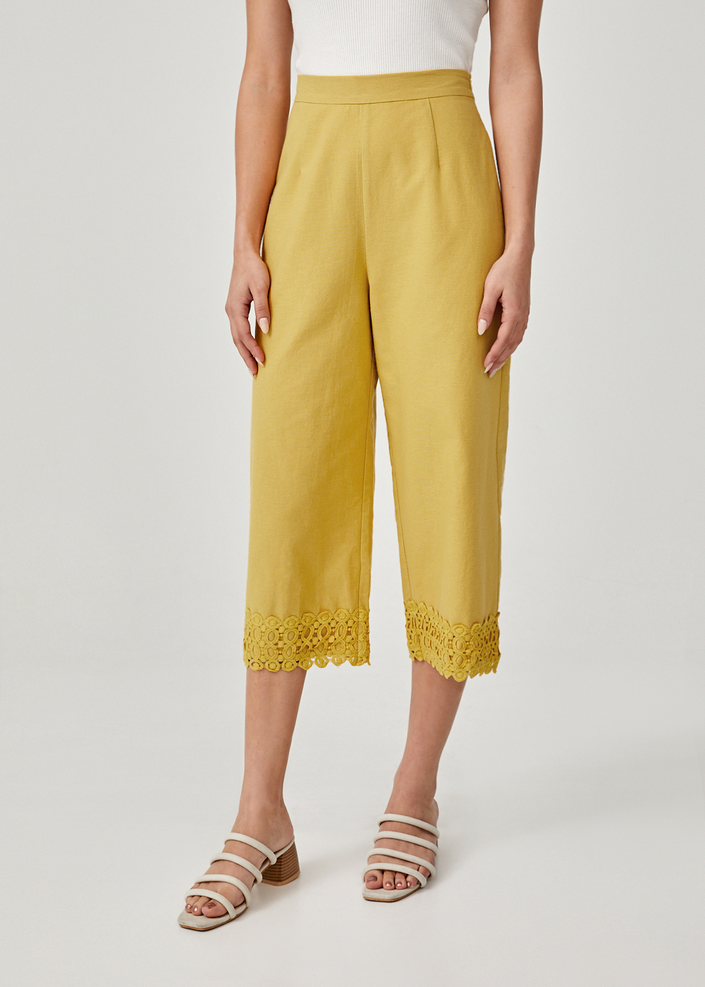 Sheena Broderie Anglaise Wide Leg Culottes