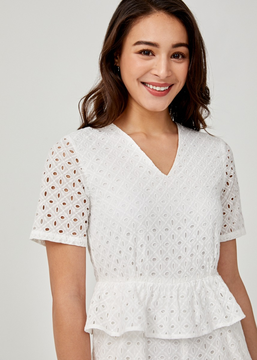 Caledonia Broderie Anglaise Romper