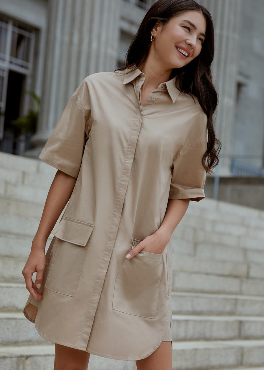 Jacqueline Patch Pocket Shirt Dress