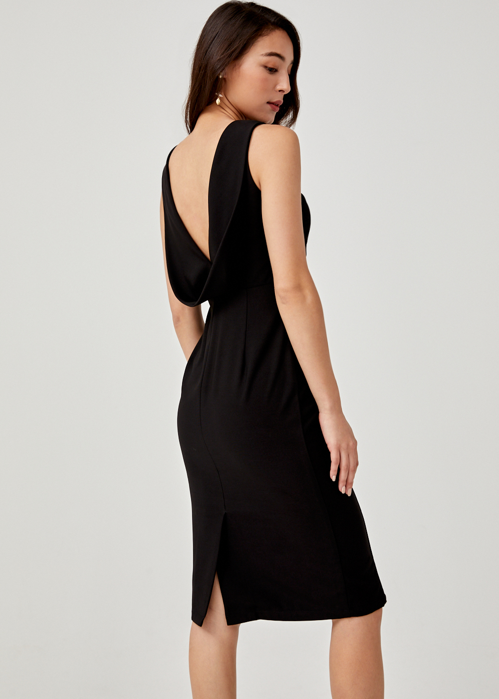 Jair Drape Back Bodycon Dress