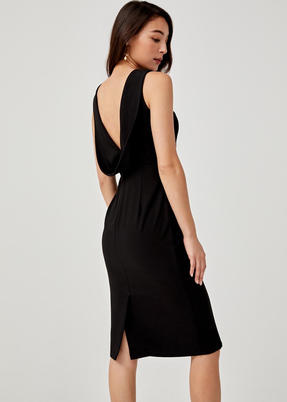 Buy Jair Drape Back Bodycon Dress Love Bonito Singapore Shop Women S Fashion Online
