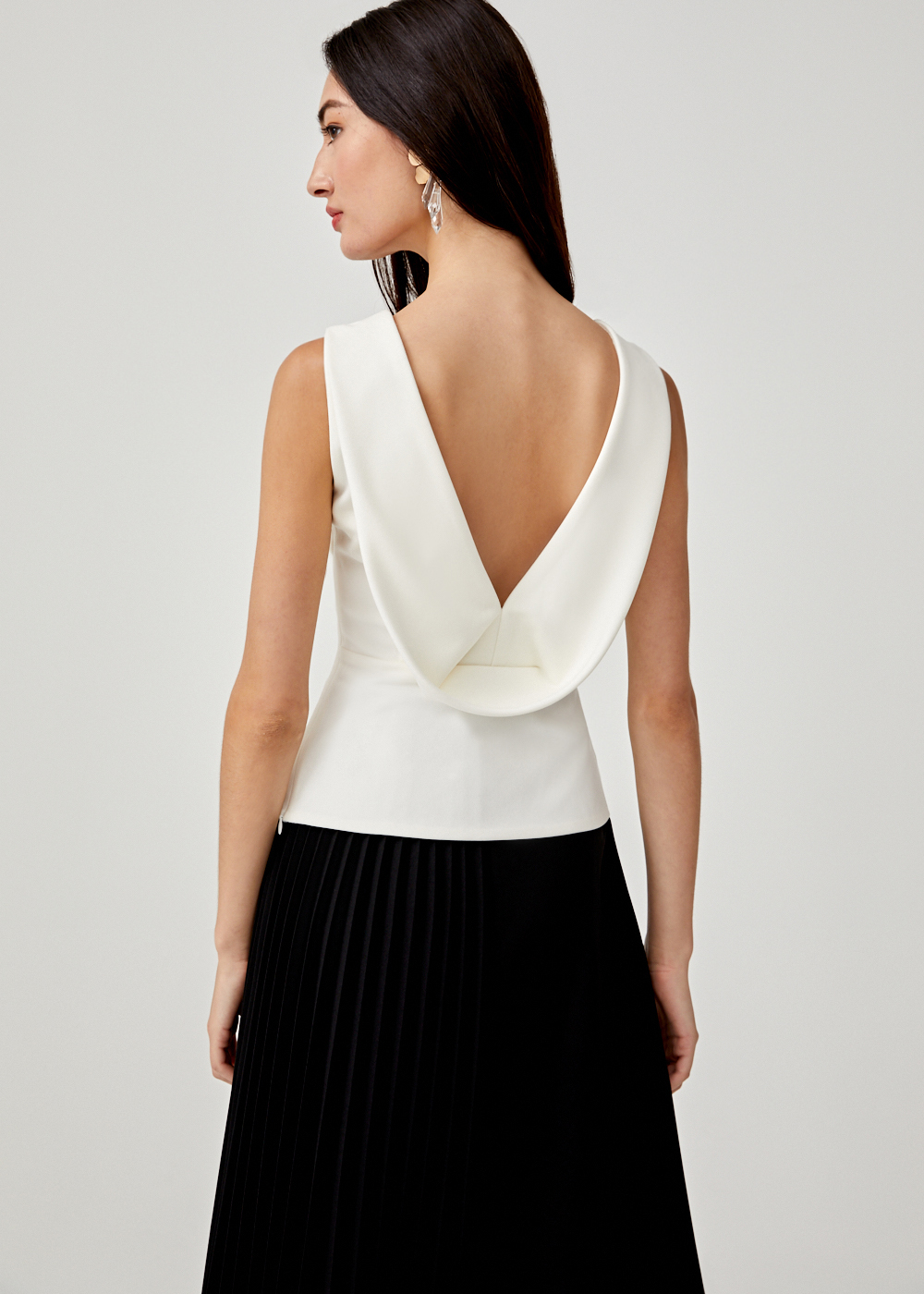 Janine Drape Back Top