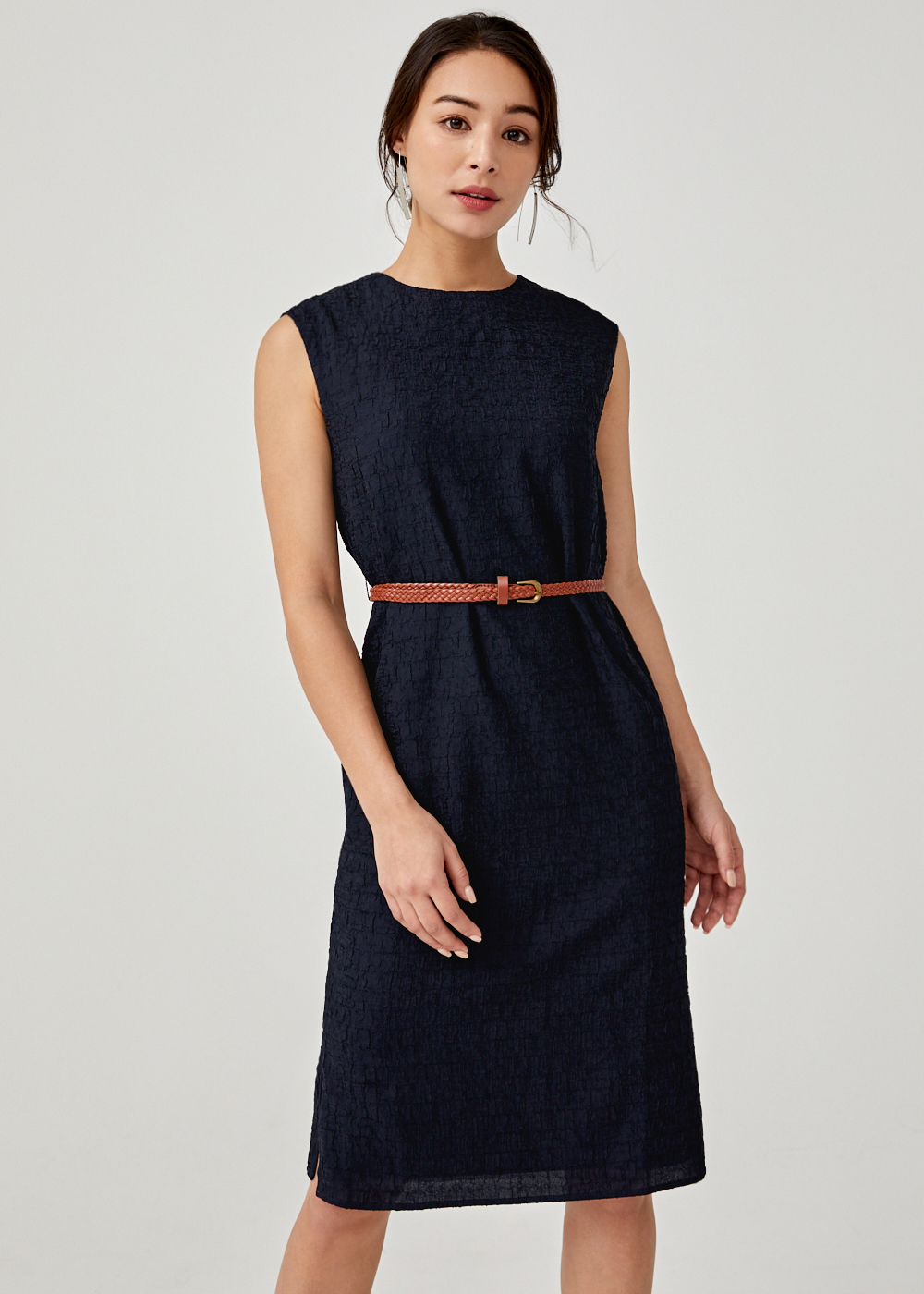 Rainer Belted Midi Dress