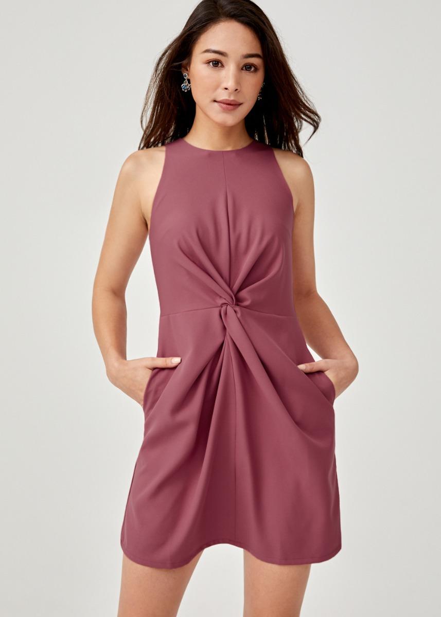 Tammy Knot Front A-line Dress