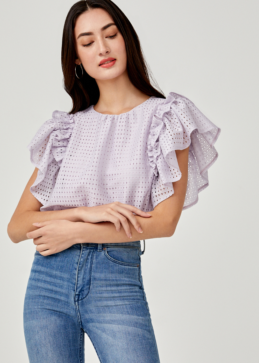 Amabel Ruffle Sleeve Top