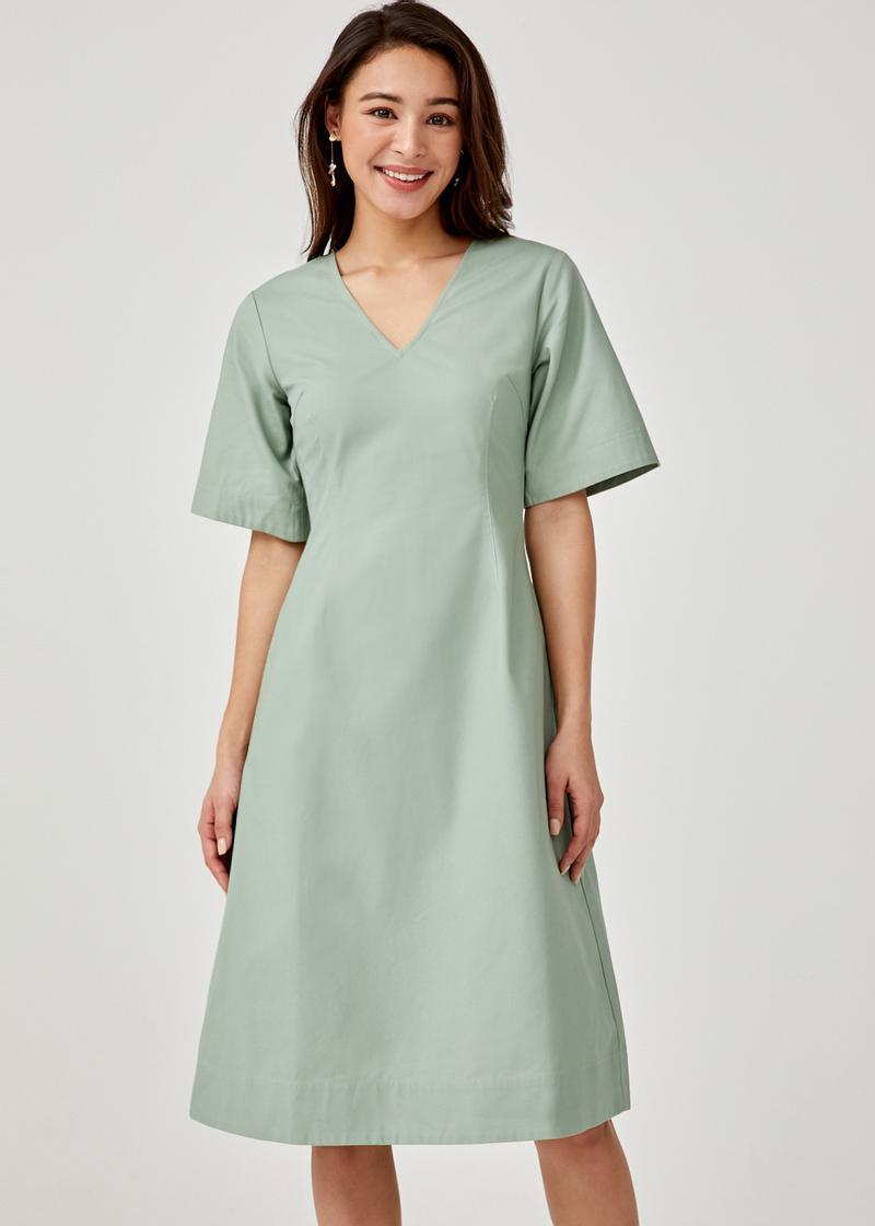 Marylyn A-line Midi Dress