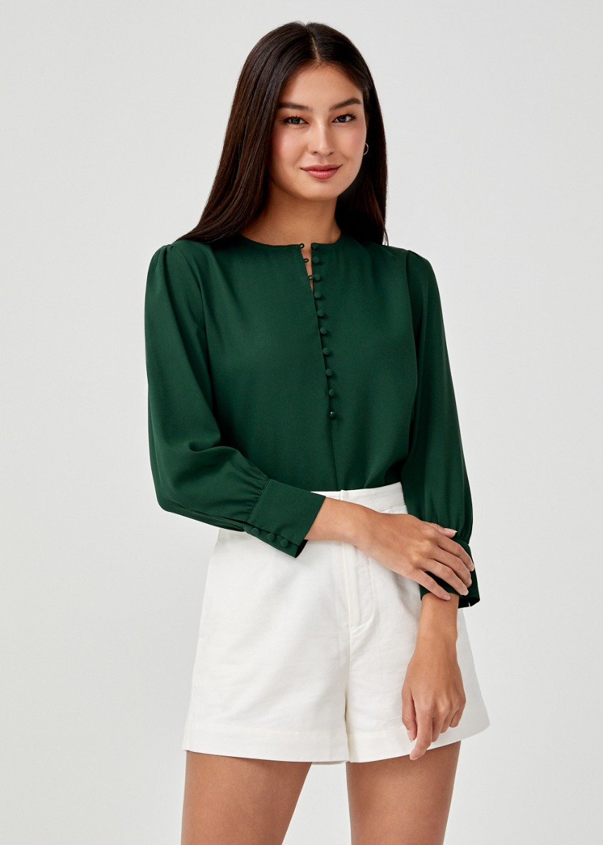 Maudie Button Front Blouse