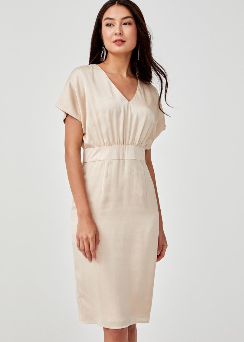Edalene Drop Shoulder Midi Dress