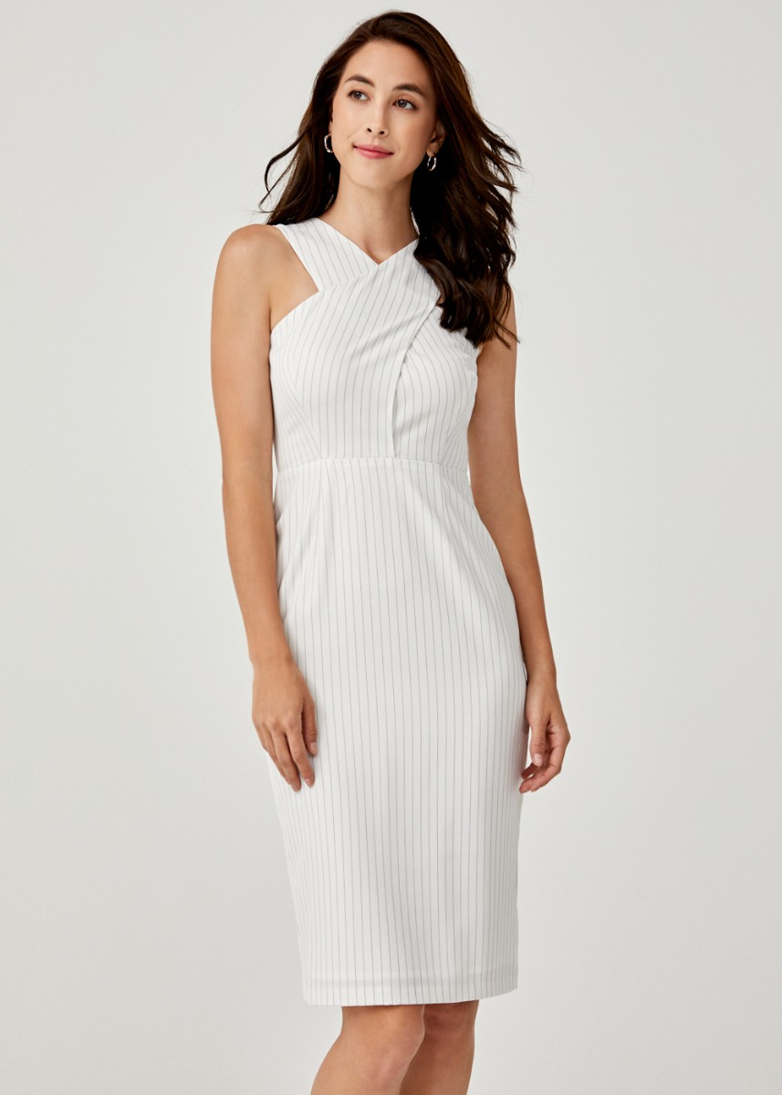 Jaela Crossover Midi Dress