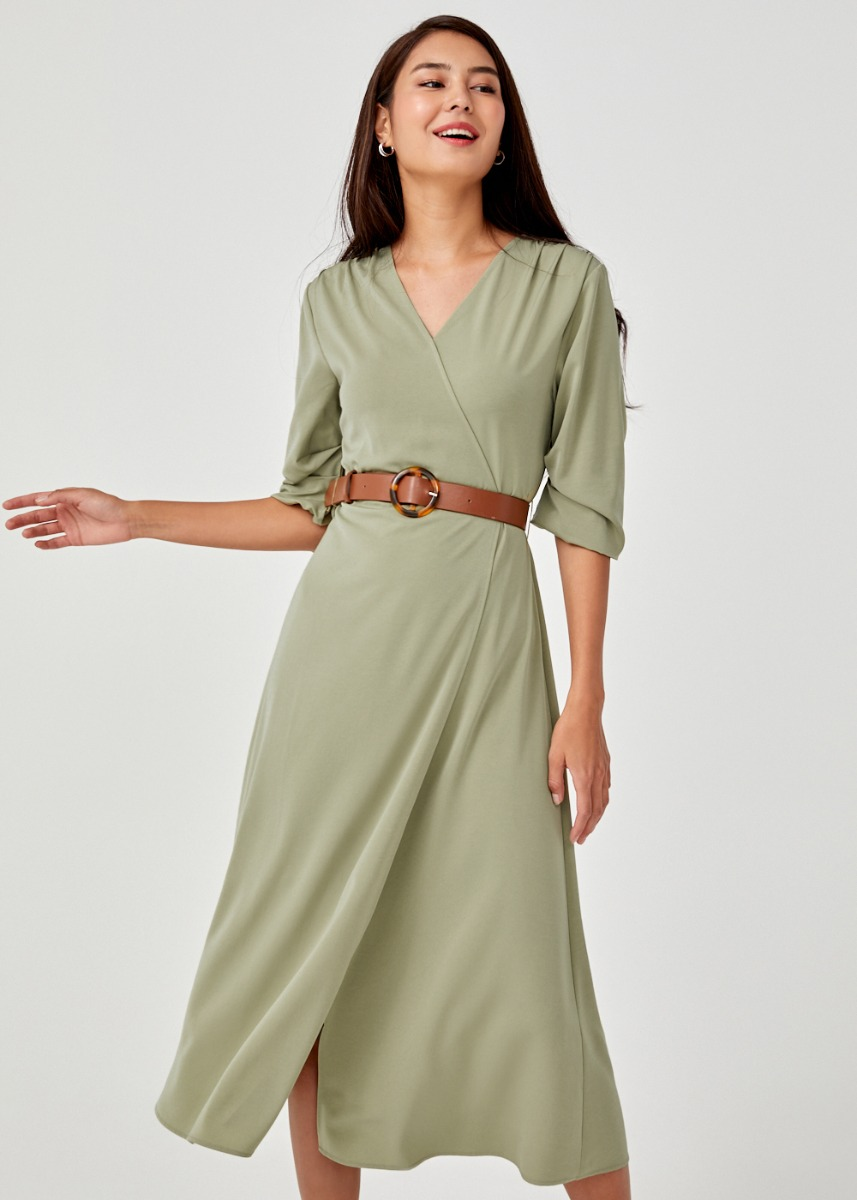 Samara Belted Maxi Wrap Dress