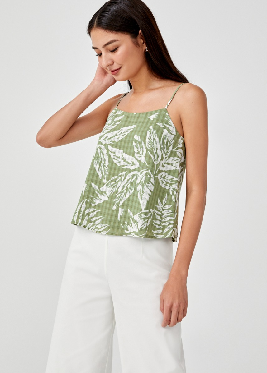 Ragine Printed Camisole Top