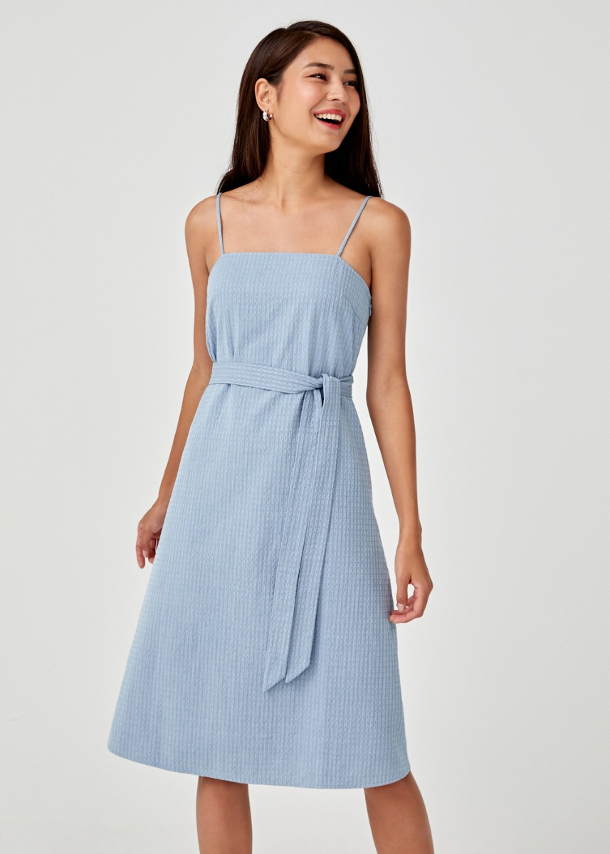 Giulana Tie Front Camisole Dress