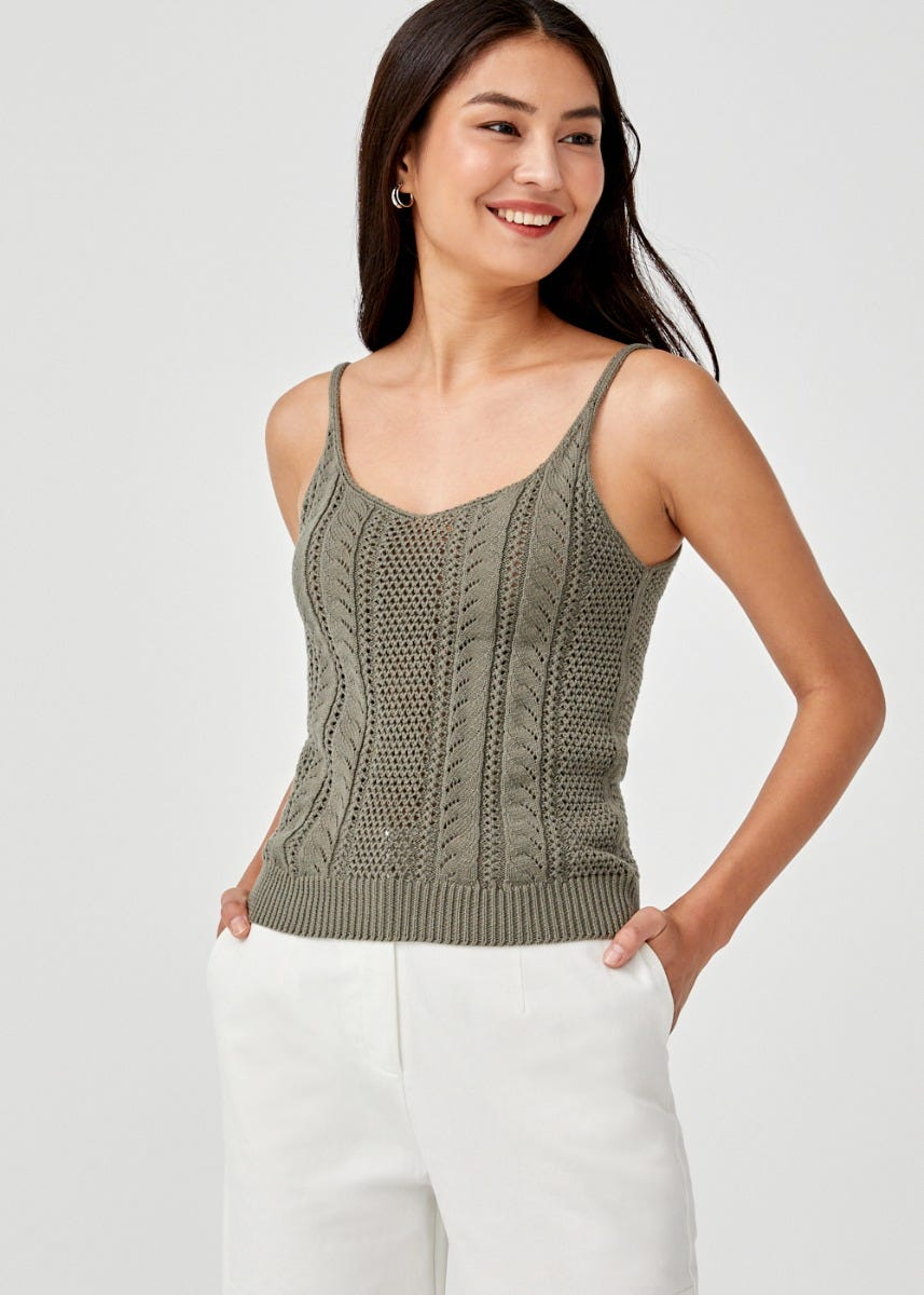 Calisto Scoop Neck Camisole Top