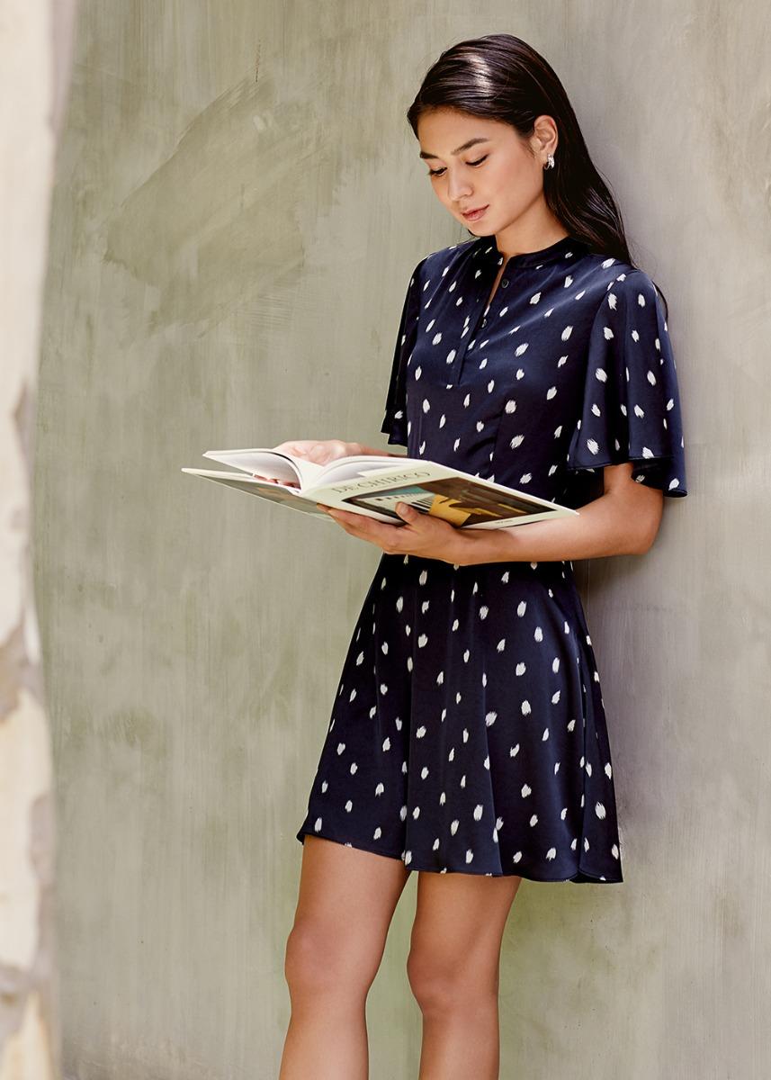 Camino Flare Sleeve Shirt Dress