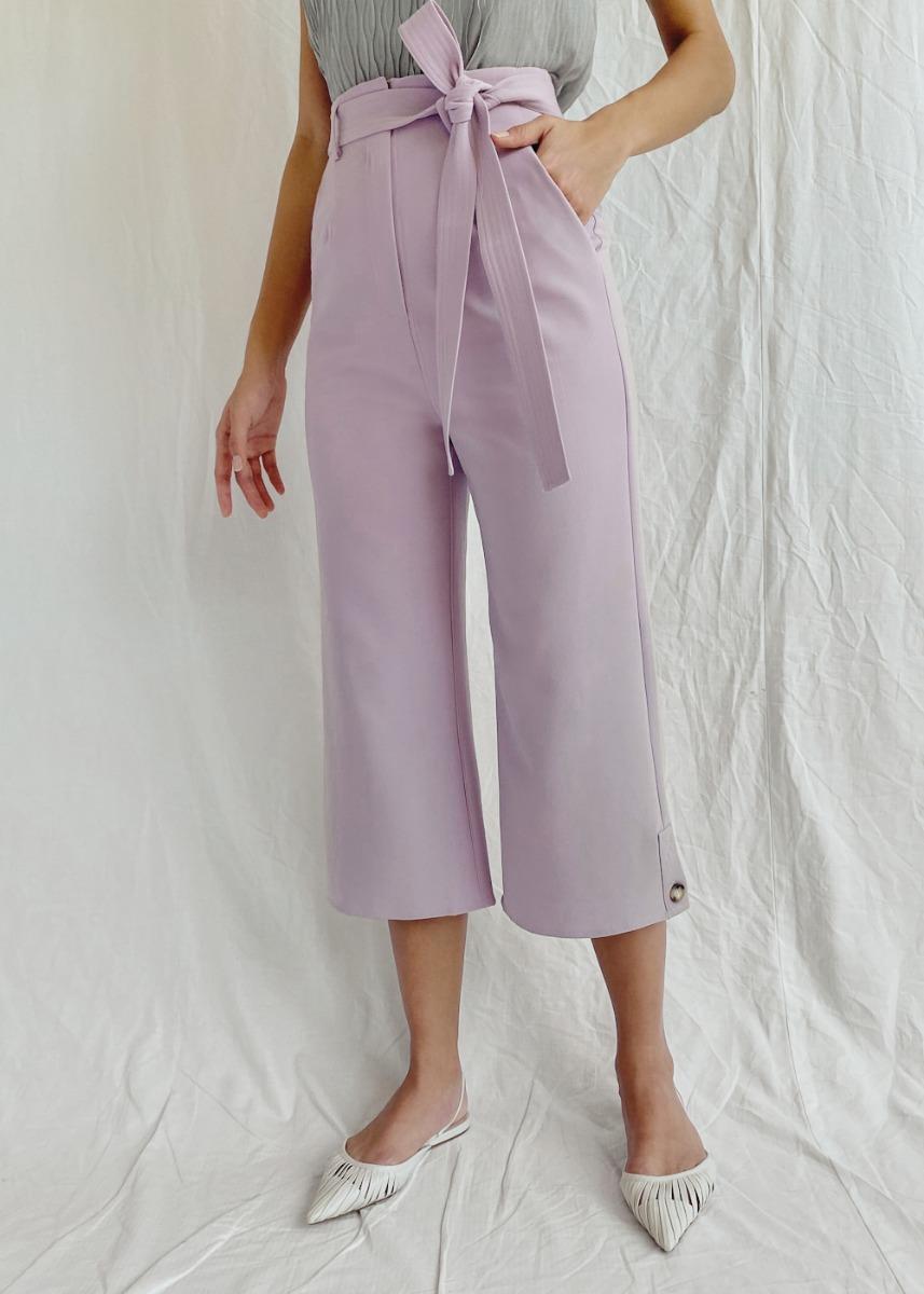 Phoebe Sash Tie Straight Leg Pants